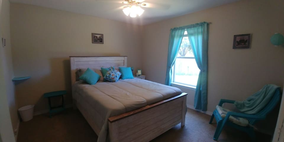 You will love the Mermaid room here at the Getaway!