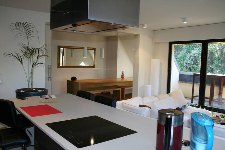 Duplex rénové et spacieux face à la forêt