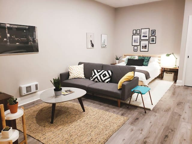 Stylish Studio Apartment in Downtown Kitchener
