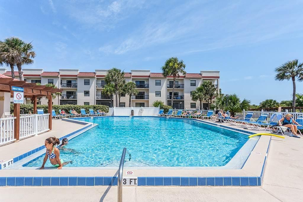 Walk over and take a dip in the pool - Ocean Village Club provides everything you're looking for in a Florida family vacation!  W