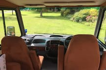 Fabulous panoramic views from front seats