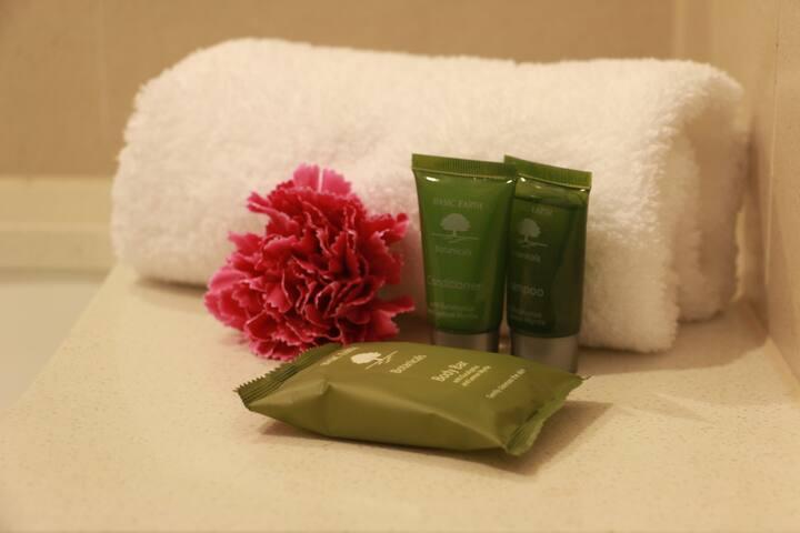 FREE Shampoo, Conditioner & Soap