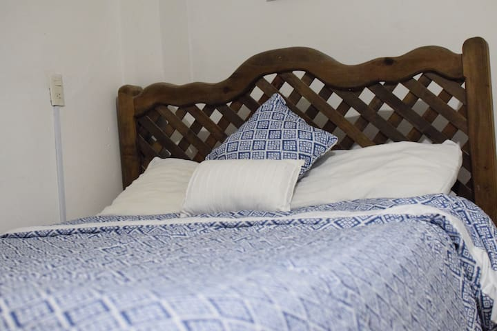 Comfortable room with double bed and bath ensuite