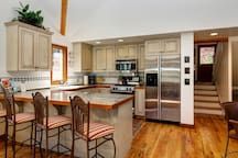 You can cook and still be part of the action thanks to the open floor plan.