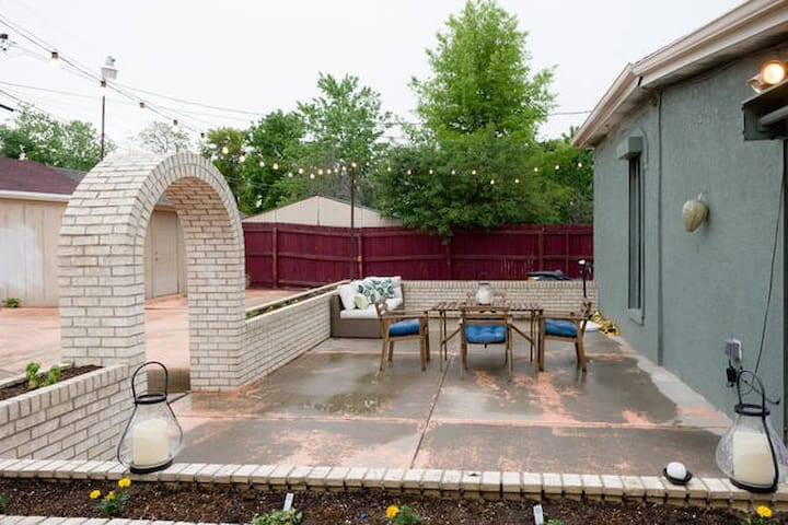 Great patio to grill and relax by a fire pit (not shown)