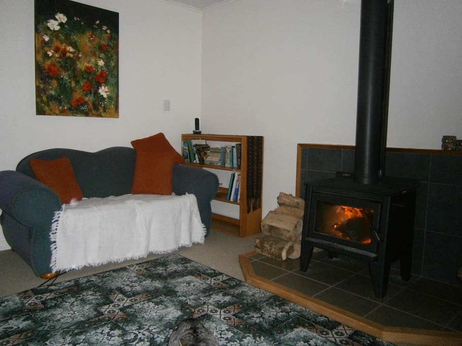 The lounge - especially cosy of a Winter's night.