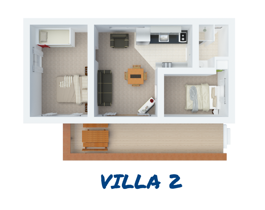 Floor plan of the villa.