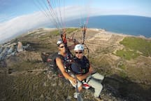 parapente en la zona del faro - Paragliding in the area of the lighthouse