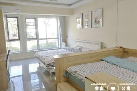 蓬莱阁宝龙广场北欧双床两居供暖公寓