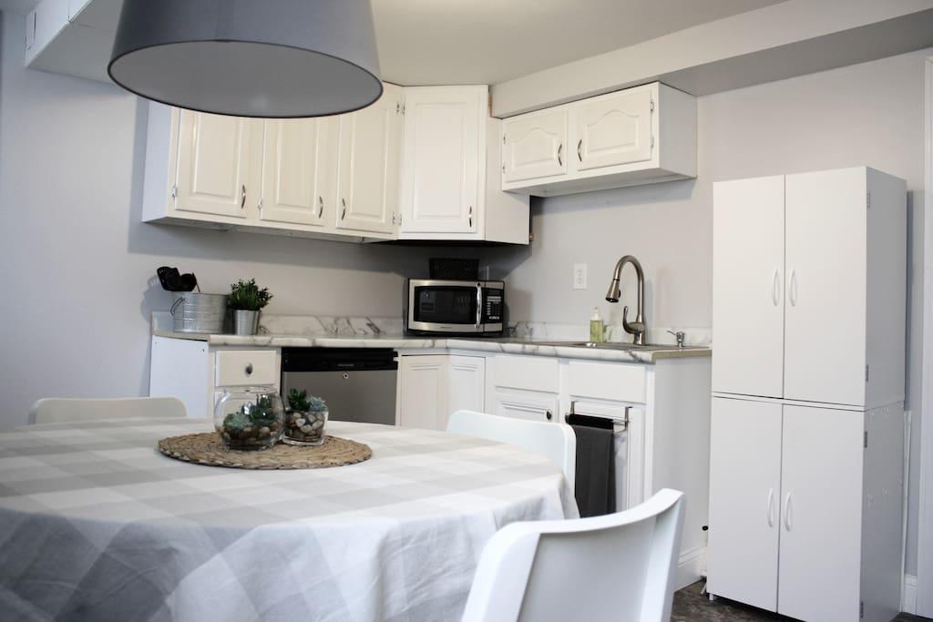 private kitchen area