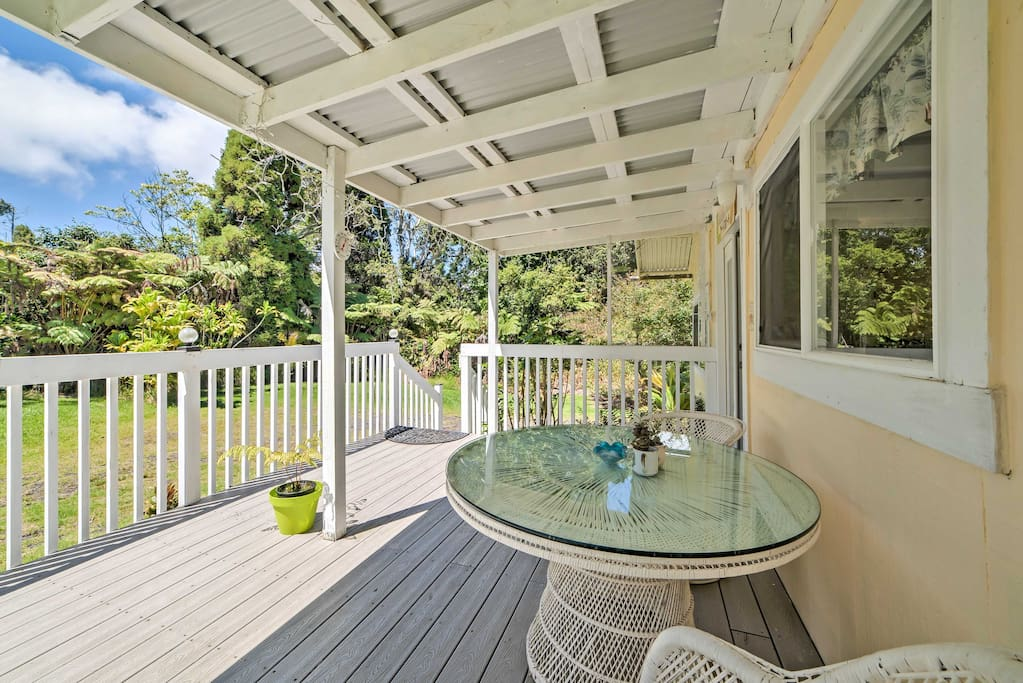 Look forward to sipping your morning coffee on the covered porch.