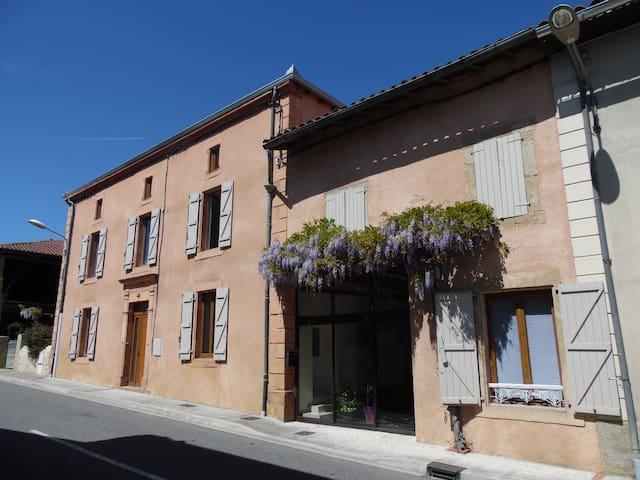 chambre lumineuse + salle de bain privé + salon TV - Cassagnabère-Tournas - Casa