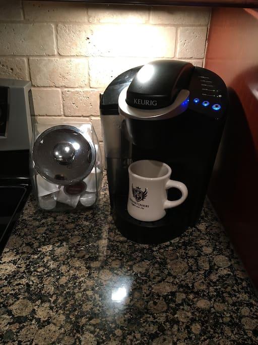 Keurig Coffee in the Morning!