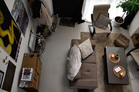 Loft cosy 15min de Lille + parking - Podkroví