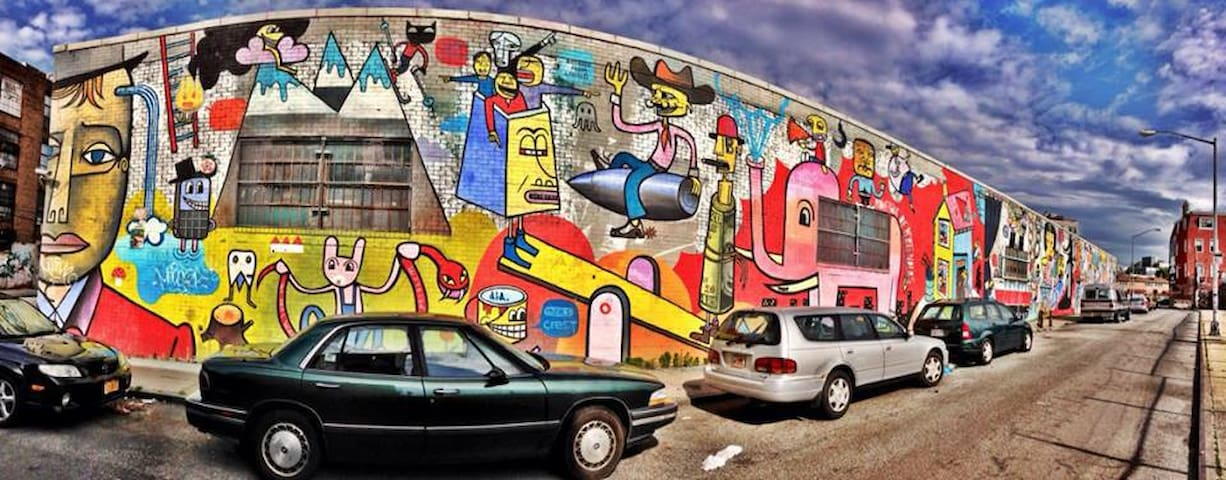 Bushwick is known for its beautiful graffiti and up and coming artist.