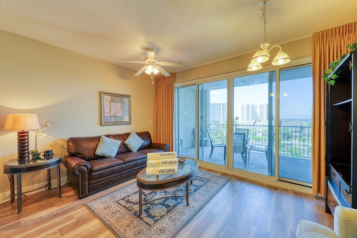 Beautiful ocean view Destin getaway with a shared pool and on-site amenities!