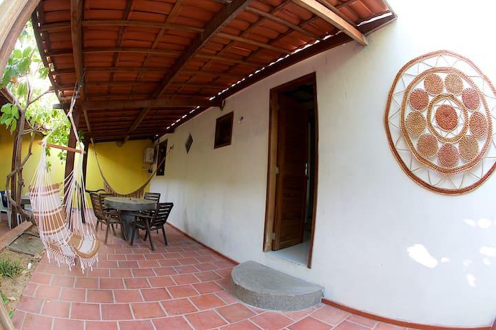 Espaço Caju - Chalé com ar condicionado e cozinha. - Aracati - Σαλέ