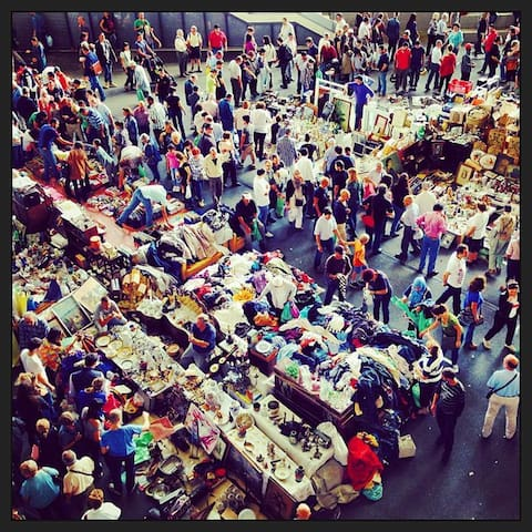Encants street market. 8 minutes walking
