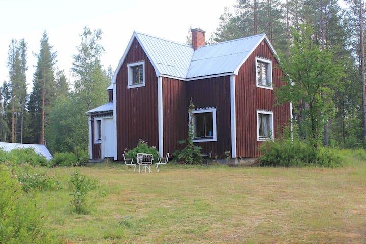 Stenhuggar Nilssons Stuga, nära sjö