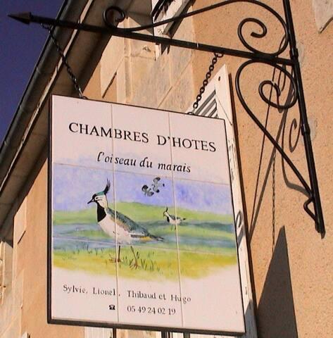 MARAIS POITEVIN CHAMBRE D'HÔTES L'OISEAU DU MARAIS