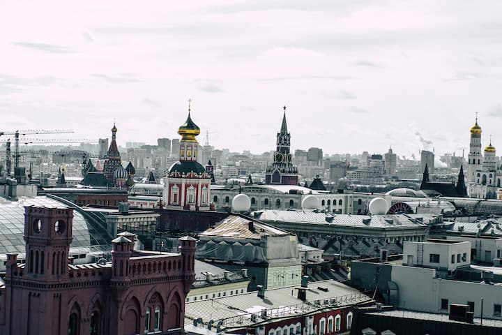 See Moscow from  hidden observation deck