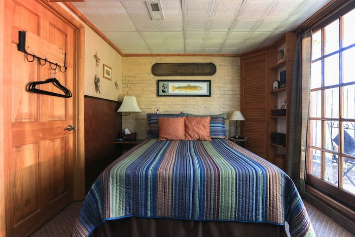 Your Room-full size memory foam mattress, cozy, and private entrance.