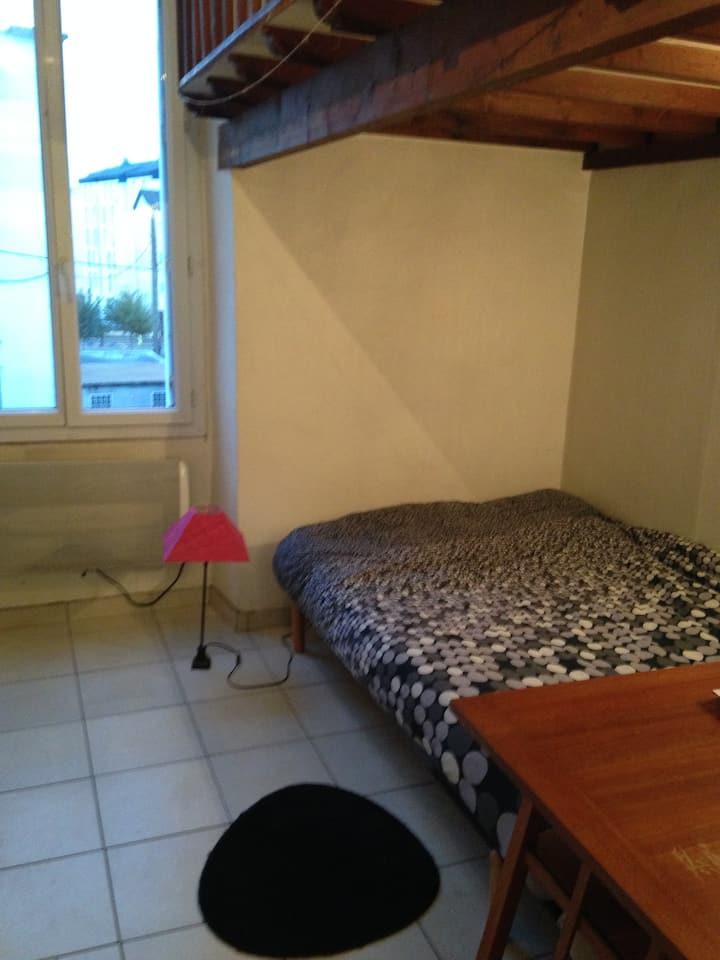 location studio meublé,  île de Nantes