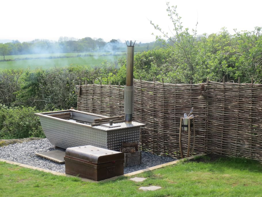 Your own exclusive wood fired hot tub
