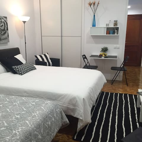 Wonderful & Central Studio with private Parking - Madrid