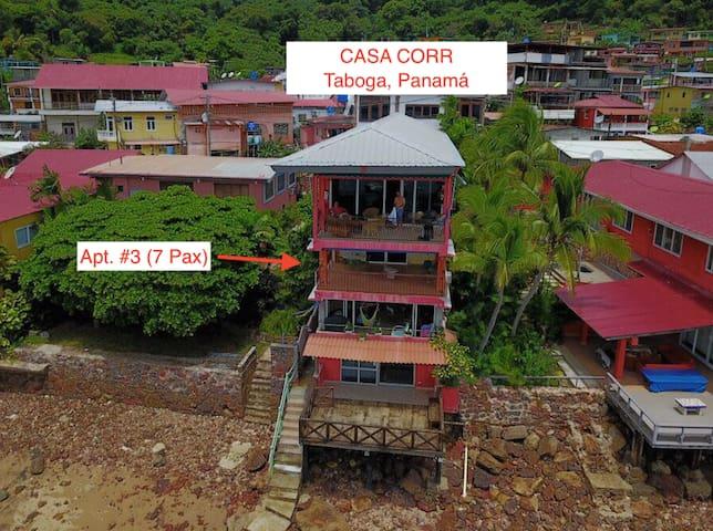 Taboga - Apartamento frente a la playa (7 Pax).