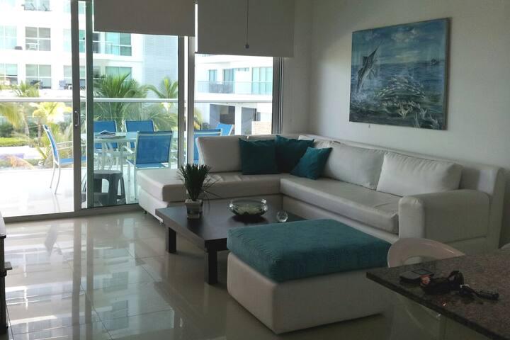 Apartamento MORROS EPIC con playa de 2 hab.