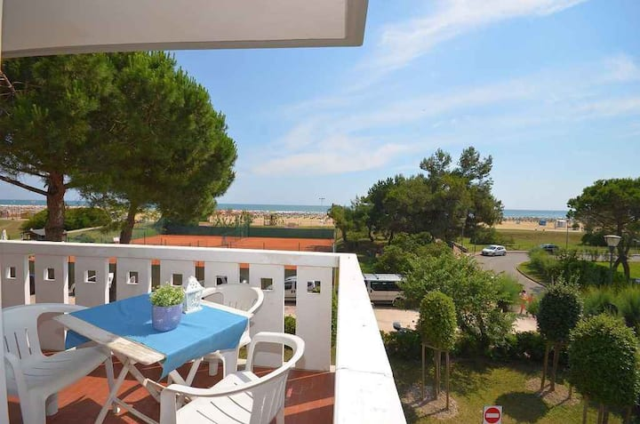 apt for 4+2 persons with a/c in Bibione R81960