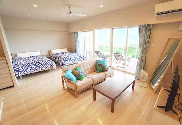 Kids friendly/Aquarium 5min!Ocean view newly condo