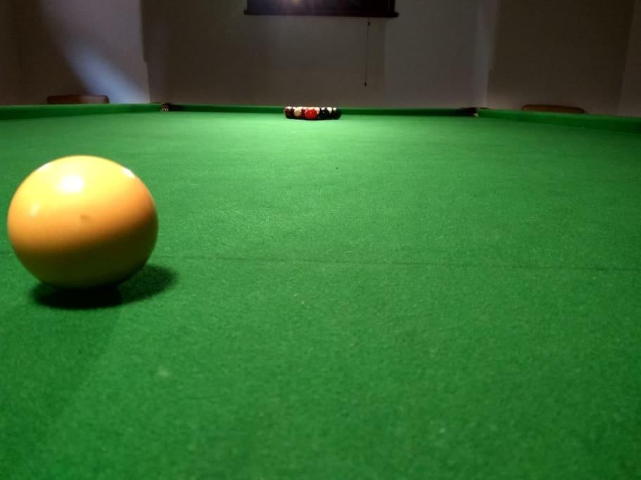 Full size billiard table