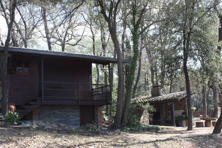 Casa de fusta per amants natura - Fornells de la Selva - Houten huisje