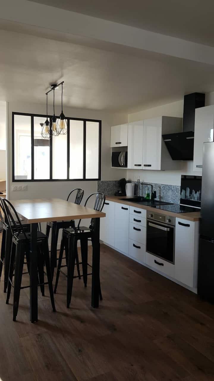 Bel Appartement refait à neuf. 2 ch. Centre Vitré