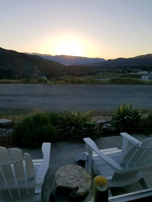 Sunset view looking at Chelan