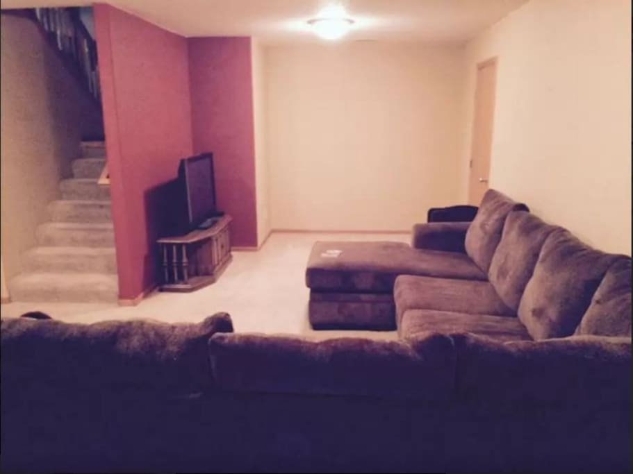 Sectional Couch and Air Mattress Near Bluestem Bed