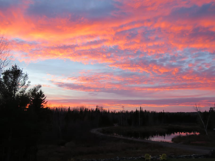 Fabulous sunsets from your west facing porch.