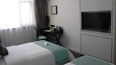 Phòng Beautiful Stylish 2 Giường Đơn