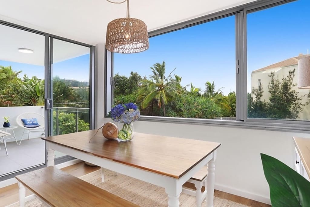 Bright and Breezy Dining Area