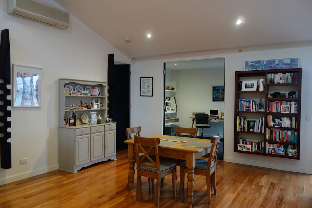 Dining table and office (view from kitchen)