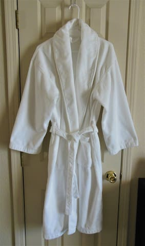 Allow me to spoil you a bit by providing a robe for your comfort and convenience.