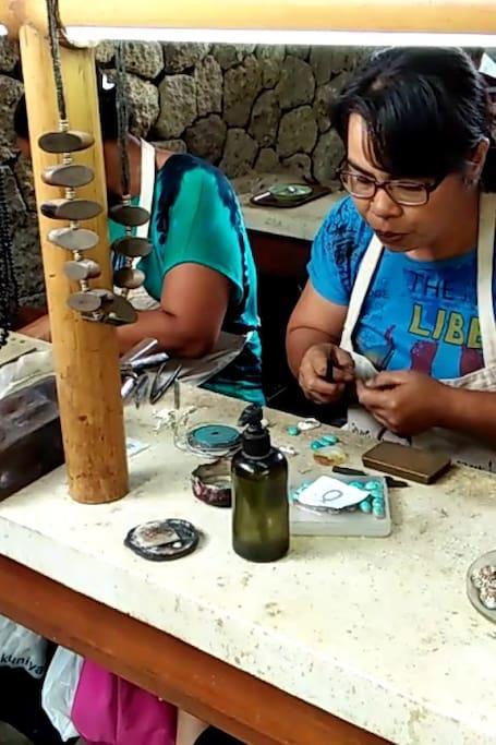 Celuk village for fine silver jewelry