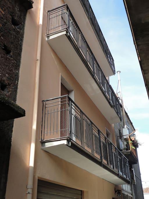 Second and Third Floor Balconies