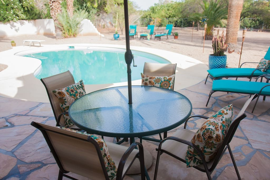 Pool + brand new, completely renovated backyard - ideal for lounging and dining!