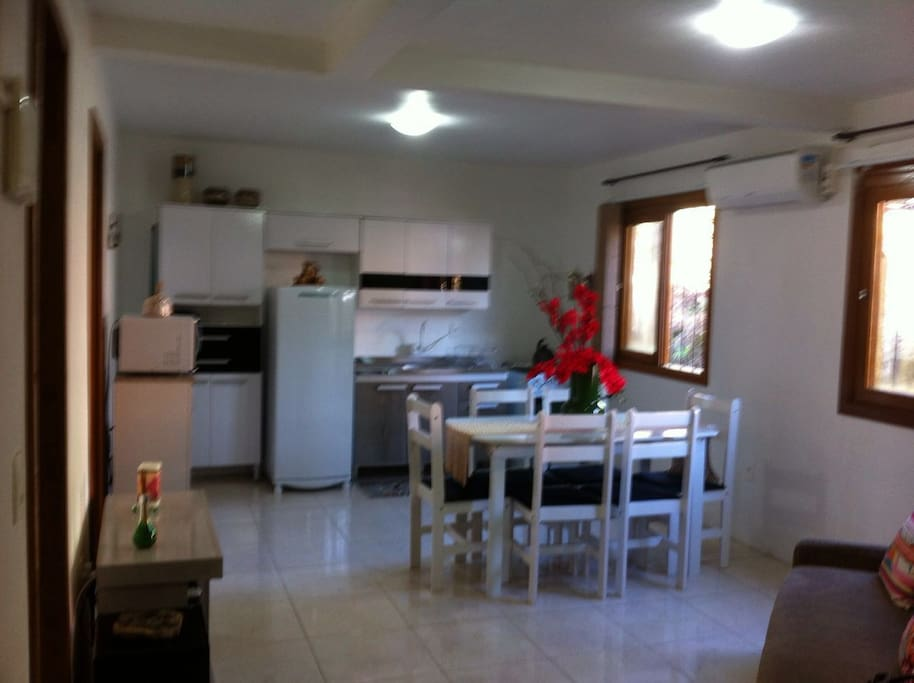 Sala e cozinha conjugados