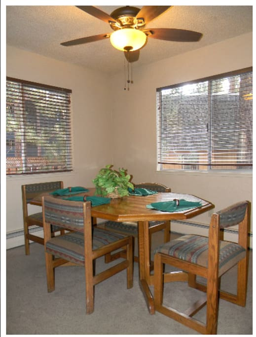 Dining Room.This is a picture of one of the units. They are the same but layout can be different.