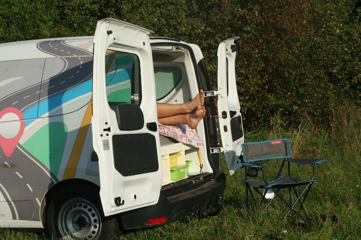 Drive And Sleep - anywhere! Small camper for two.