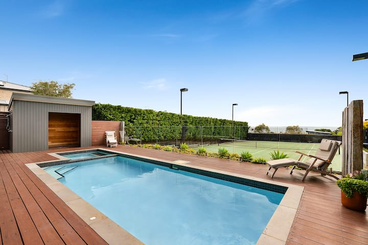 Bella Vista@Mount Martha -Pool,Tennis Court &Views